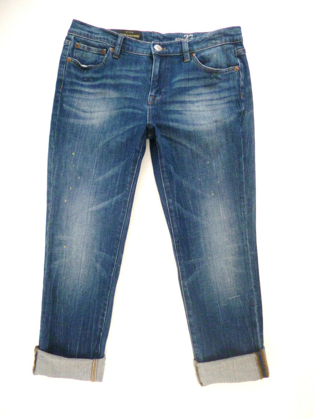 J. Crew Broken in Boyfriend Jeans Size 27 Michel Wash Distressed Slim