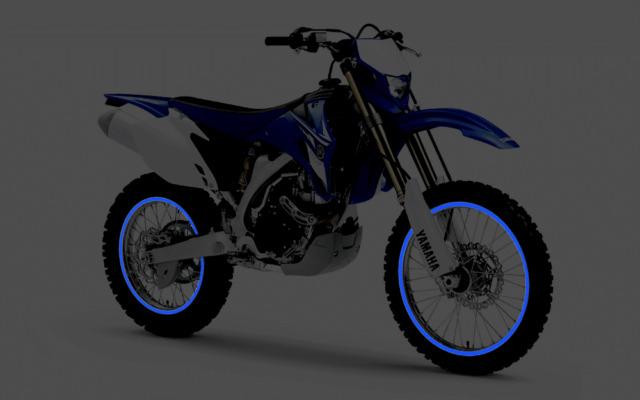 ADESIVI MOTO STRISCE RUOTE CERCHI MOTO CROSS RIFRANGENTI RIFLETTENTI 3M™ STRIPE
