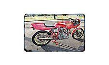 Ducati Ncr 900 Motorbike Sign Metal Retro Aged Aluminium Bike