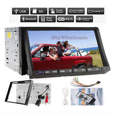 Double 2Din In Dash Car Stereo Radio Mp3 CD/DVD Player BT,Ipod Steering Wheel SD