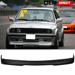 For-84-92-BMW-E30-3-Series-RG-Style-Front-Bumper-Lip-Spoiler-Black-PU