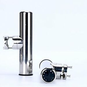 NEW 2x Amarine made Stainless Clamp on Fishing Rod Pole Holder