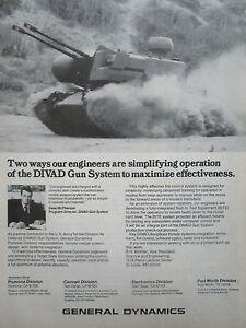 11/1980 Pub General Dynamics Pomona Divad Gun System Us Army Defense Aerienne Ad Fvngdxmb-07221219-669570330