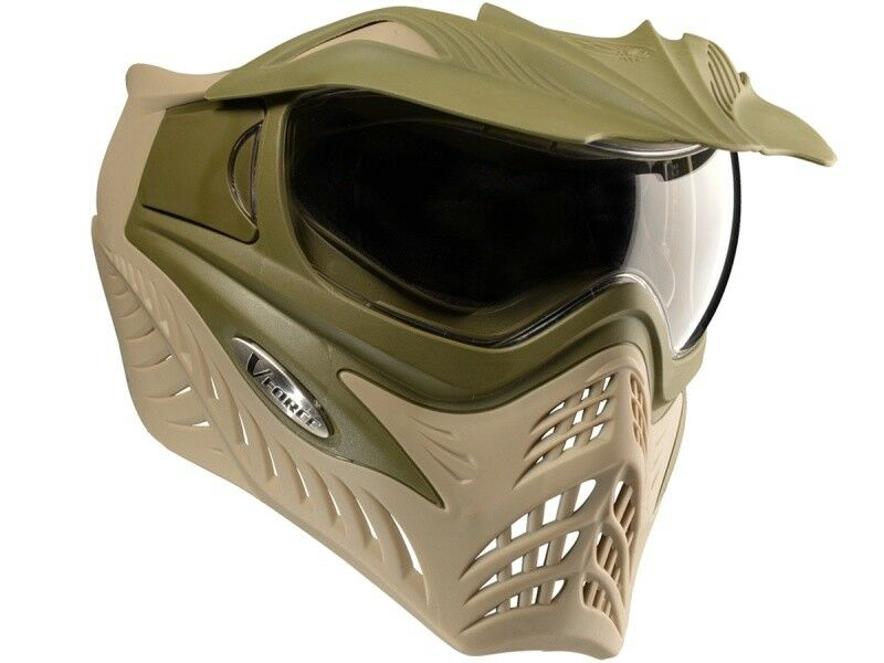 Paintball Mask V-Force Grill Swamp Olive Brown Thermalglas