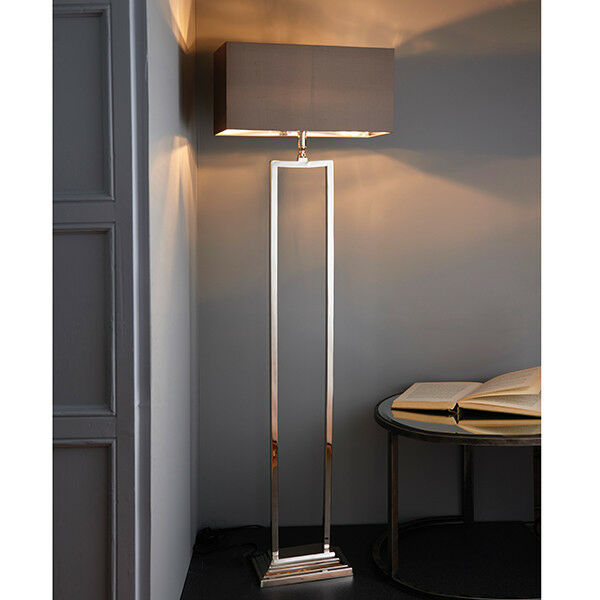Endon Cier Floor Lamp Base Modern Geometric Design 60w E27 Gls Nickel Plated