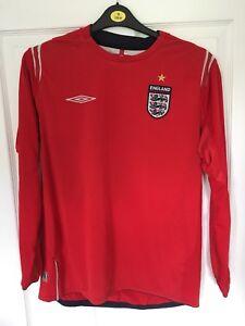 2004-2006-ENGLAND-AWAY-FOOTBALL-SHIRT-UMBRO-Grandi-Da-Uomo-Tre-Leoni-a-maniche-lunghe