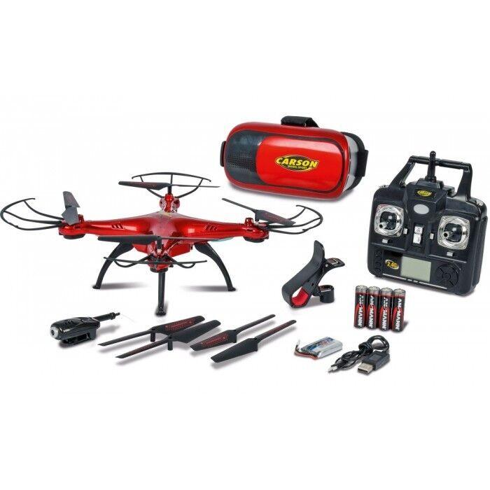 Carson 500507122 x4 quadcopter 360 3d FPV 2.4g 100% RTF + nuevo +