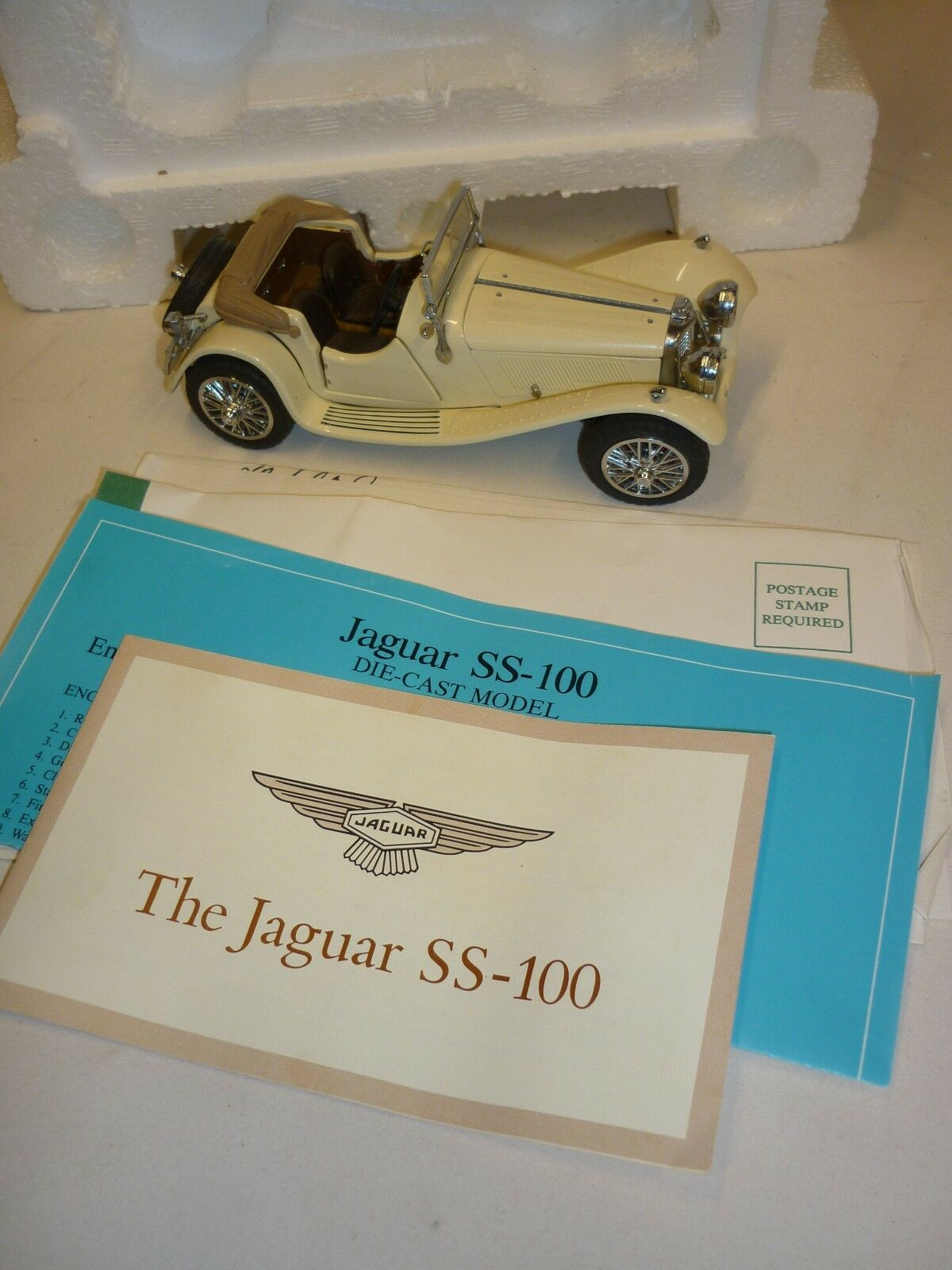 Un Franklin Comme neuf scale model voiture 1938 JAGUAR SS100. Boxed & papiers