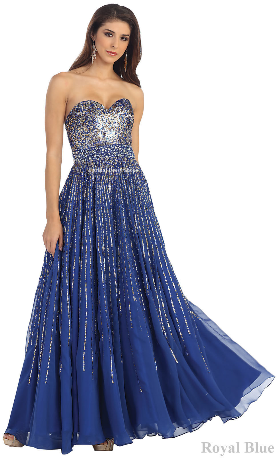 SALE ! FLOWY ROMAN GODDESS EVENING GOWN PROM PAGEANT SWEET ...