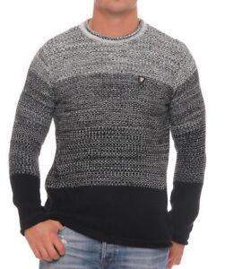 Carisma-Herren-Strickpullover-Pulli-Winterpulli-Knit-Men-Jumper-Black-Grey-L