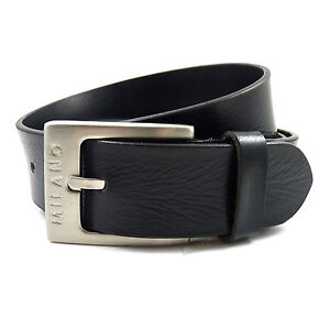 Mens Real Genuine Leather Black Belt 1.5 Wide S-XL Thick Long Casual Jeans CM8
