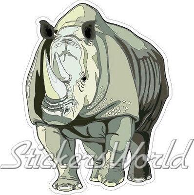 """130mm Vinyl Bumper Sticker Decal RHINO HEAD Rhinoceros WILDLIFE 5,1/"""""""