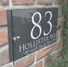 Decorative House Signs Plaques Door Numbers 1   999 Personalised Name Plate