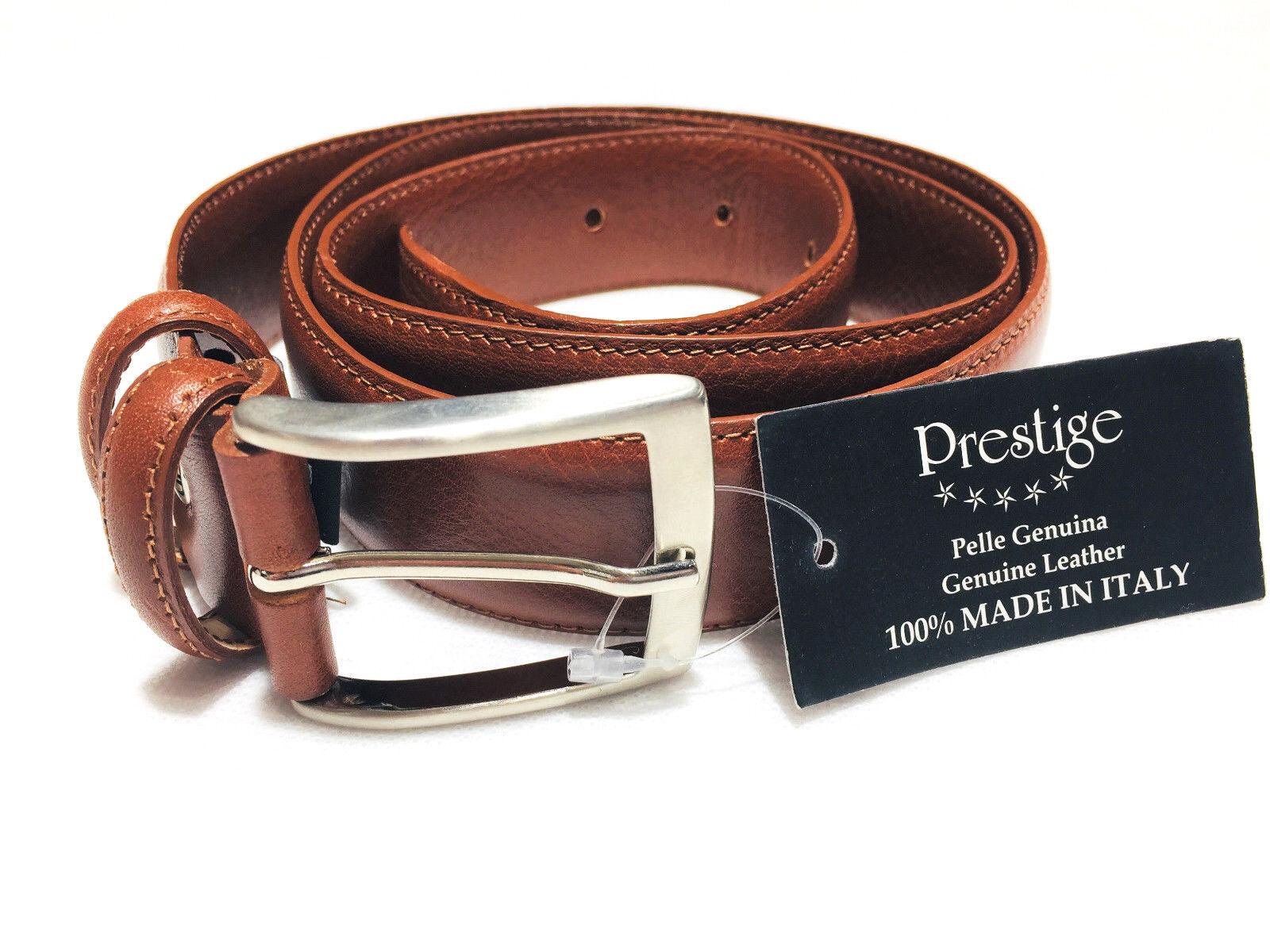 Gürtel Klassisch Gürtel Herren Echtes Leder Made IN Italy Verkürzt Elegant Leder