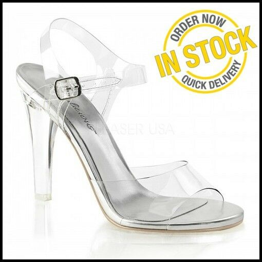 CLEARLY-408 NEW NEW NEW Posing shoes Clear Heels Bikini Competition Sandals hot SIZE 3 22f9d0