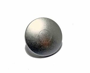 Alto-Qualita-Otturatore-Pulsante-Morbido-Rilascio-Metallo-Convesso-Argento