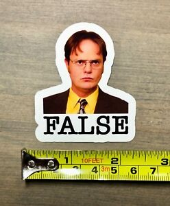 Dwight-Schrute-Sticker-2-5-034-False-The-Office-Beets-Bears-Battlestar-Laptop-PO