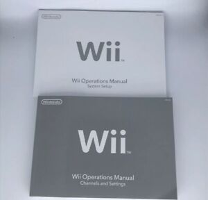 New-Nintendo-Wii-System-Console-User-Operations-Manual-Quick-Start-Guide-OEM