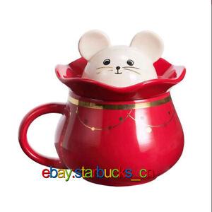 Starbucks Cup China CNY 2020 Chinese New Year Rat Red Zodiac 12oz Mug