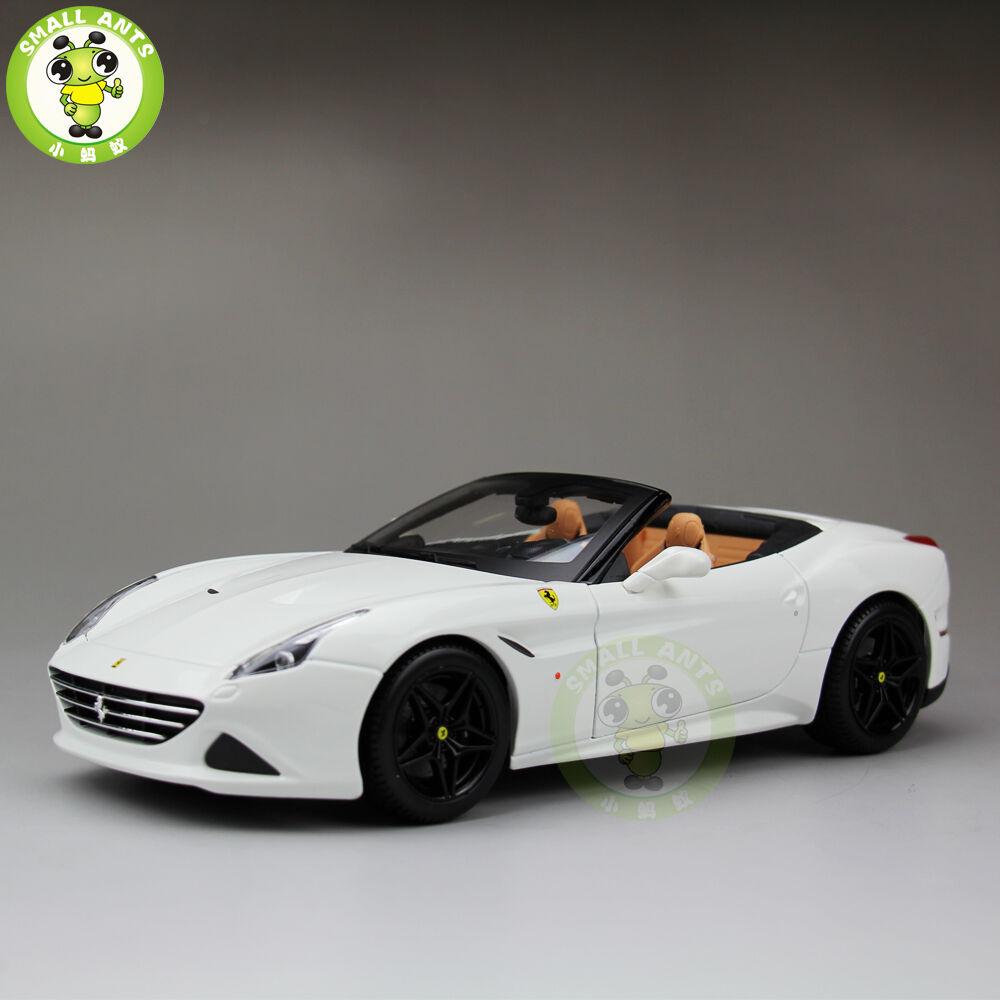 1 18 Ferrari California T Signature Diecast Car Model Burago BBU16904 white