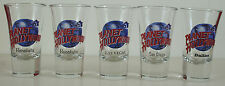 LOT of 5 PLANET HOLLYWOOD Shot Glasses Honolulu (x2) Las Vegas San Diego Dallas