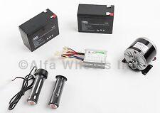 350W 24V DC electric motor kit w SLA Batteries, Speed Controller & Throttle