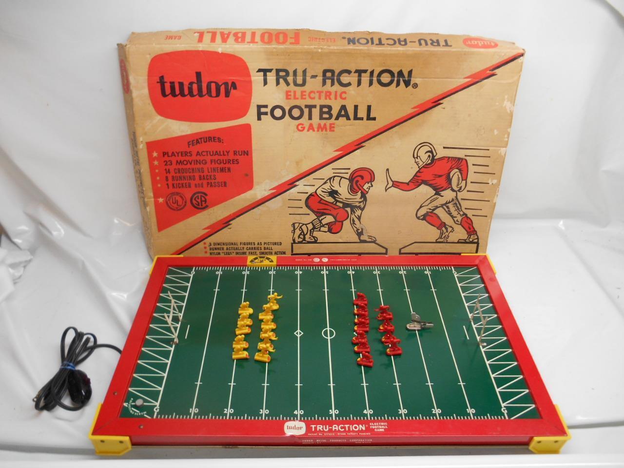 Antiguo De Colección Década de 1950 Tudor Tru-acción juego de fútbol eléctrico mdl 500 Funciona