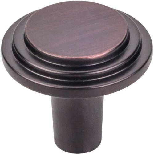 """Hardware Resources 1-1//8/"""" Elements Calloway Stepped Rounded Cabinet Knob #331"""