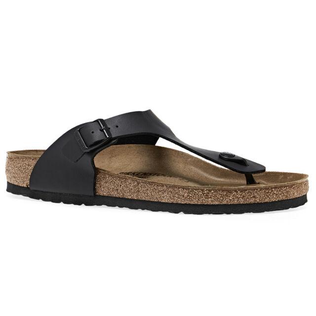 Birkenstock Gizeh Birko Flor Unisex Footwear Sandals - Black All Sizes
