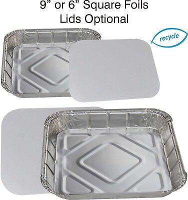 Quadrato Alluminio Cottura Vassoi, Piatti Torta, Vassoio Bake, Contenitori Di Cibo Casseruola- Prestazioni Superiori