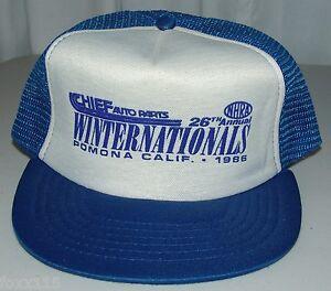 Vintage-Winston-Winternationals-Cheif-Auto-Parts-Pomona-CA-NHRA-Snapback-Hat-Cap