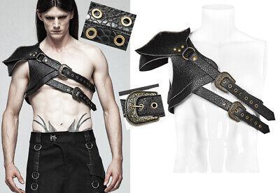 En Stock Harnais épaulette Armure Cuir Gothique Punk Warrior Dark Punkrave Homme Elevato Standard Di Qualità E Igiene