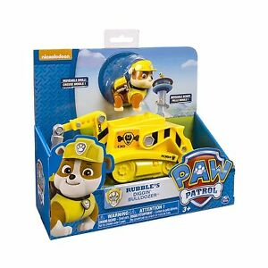 Nickelodeon paw patrol rubble s digg n bulldozer vehicle and figure