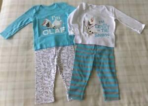 e6d080ad83 2 Pk Disney Frozen Olaf Pyjamas PJ s Nightwear Sleepwear ~ Unisex ...
