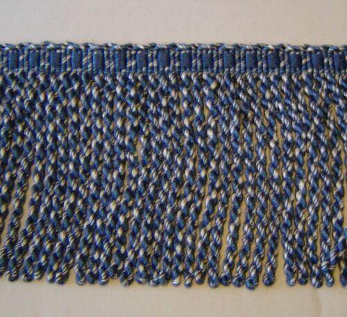 """5/"""" Bullion fringe Blue and White has Matched Braid and Tassel Fringe 302-12367"""