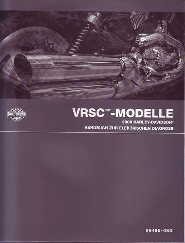 HARLEY-DAVIDSON Handbuch zur elektrischen Diagnose 2008 V-Rod VRSC Buch DEUTSCH