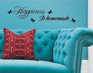 Happiness-Is-Hausgemacht-Wandkunst-Aufkleber-Zitat-fuer-das-Heim-wa1510