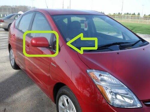 Para Toyota Prius NHW20 06-09 Ala Exterior Espejo Rojo CALEFACCIÓN ELÉCTRICA DERECHO