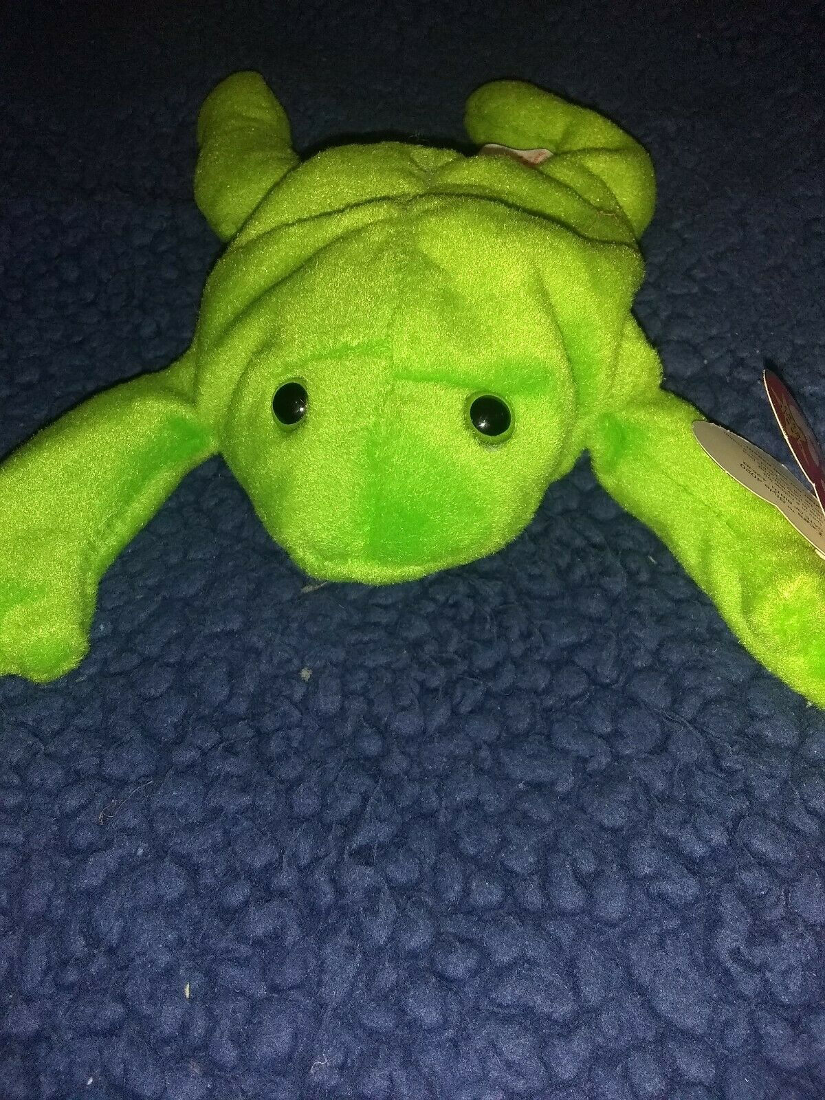 Rare  Legs the Frog  Beanie Baby 1993 Retired w  many errors perfect condition