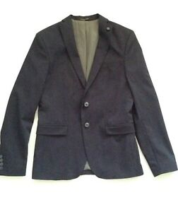 ZARA MENS NAVY BLAZER SIZE 36 SLIM FIT NEW WITH TAGS   eBay 83fd774974
