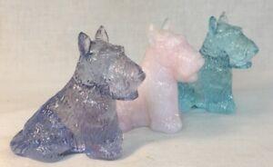 Boyd-Art-Glass-Set-Of-Three-Duke-Scottie-Dogs-1Purple-Valor-2Salmon-3-SkyBlue