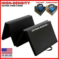 Heavy Duty Folding Mat Thick Foam Fitness Exercise Gymnastics Panel Black 6?x2?
