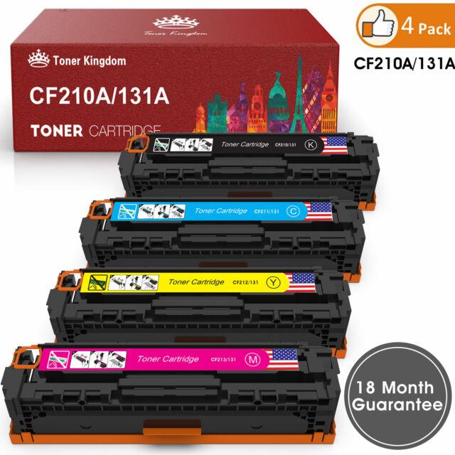 4 Laserjet M251nw M276nw Pro 200 M251 M276n Fit HP CF210X 131X Toner Black Color