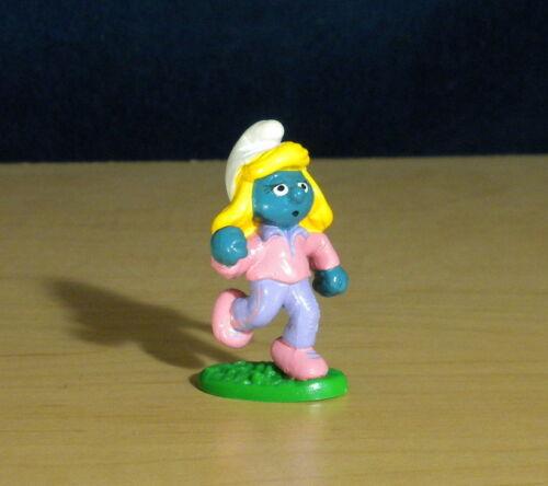 Smurfs Jogger Smurfette 20194 Smurf Runner Figurine Vintage Jogging PVC Figure