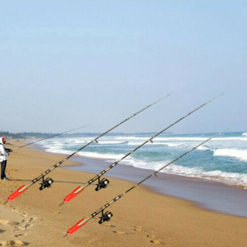 Hot Red Sea Beach Fishing Rod Stand Rest Folding Spike Holder Sea Fishing Tackle