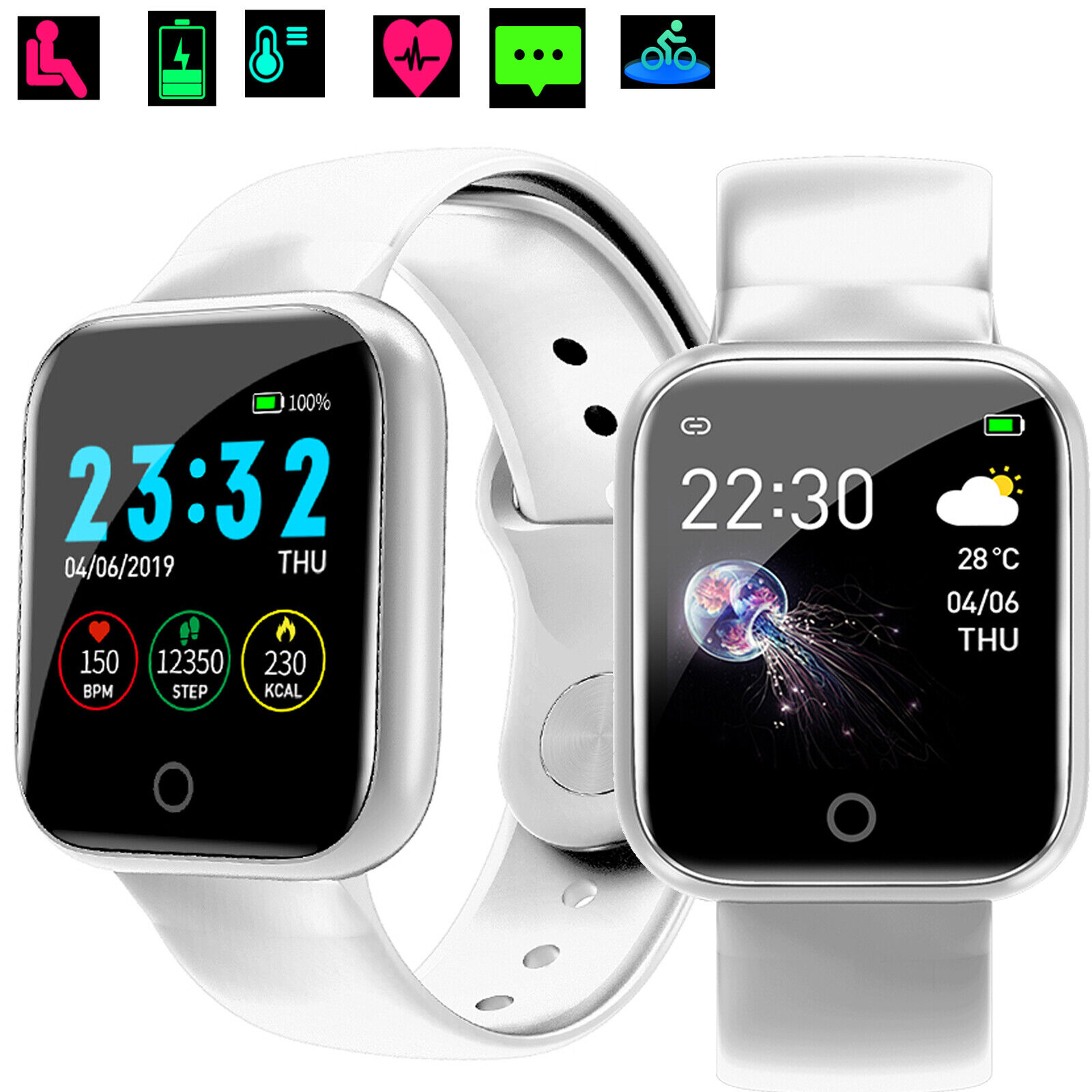 Women Smart Watch Heart Rate Blood Pressure Monitor Sports Bluetooth Wristwatch blood bluetooth Featured heart monitor pressure rate smart sports watch women