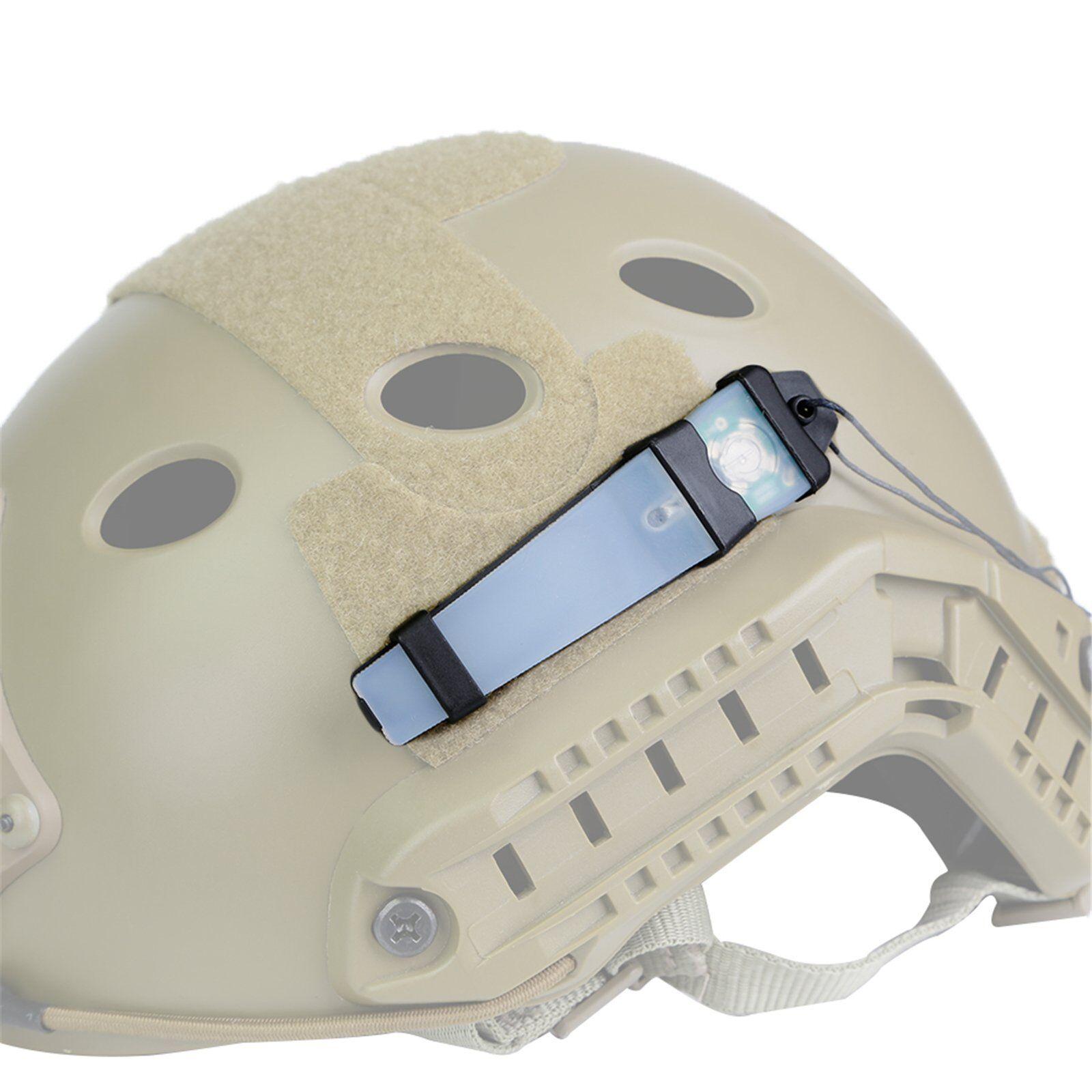 Tactical E-Lite Helmet LED Airsoft Signal Strobe Light Safet