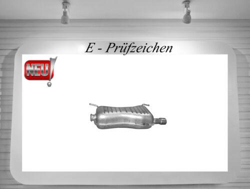 Endschalldämpfer Peugeot 306 1.8 2.0 Schrägheck Auspuff Endtopf Schalldämpfer