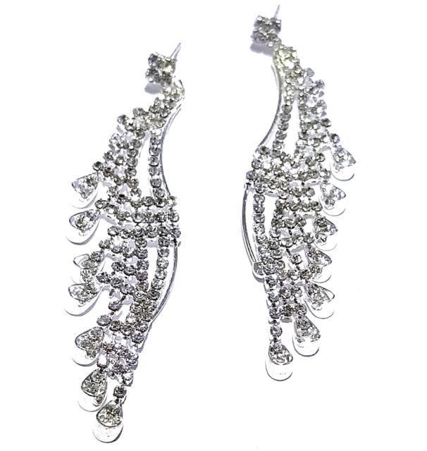 Chandelier Earring Earrings Austrian Crystal Rhinestone Bridal Pageant Prom 3.5