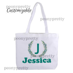 Details About Personalised Canvas Tote Bag Custom Bridal Hen Party Birthday Xmas Gift Bags